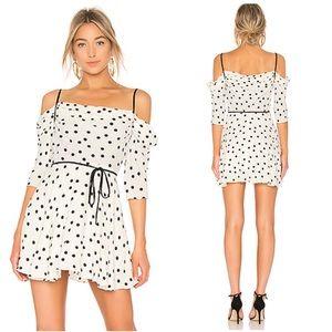 NWT Lovers + Friends Cindy Polka Dot Mini Dress